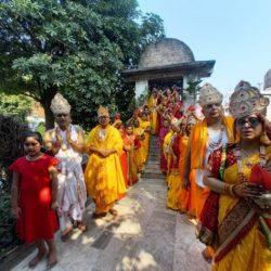 जैन मंदिर से निकली कलश यात्रा, नवीन प्रतिमा की हुई प्राण-प्रतिष्ठा